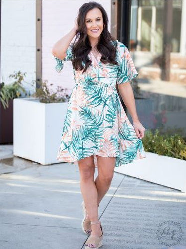 Palm Springs Wrap Dress with Ruffles