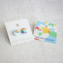 Handmade camera fabric Button Earrings