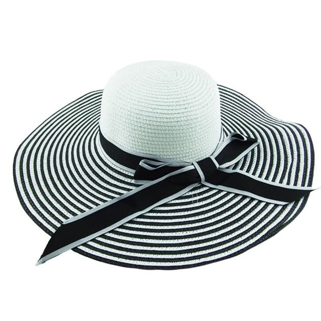 24fd10733d6e2f Hot Sale Fashion Black White Summer Sun Hat Beautiful – Ja Sunlive