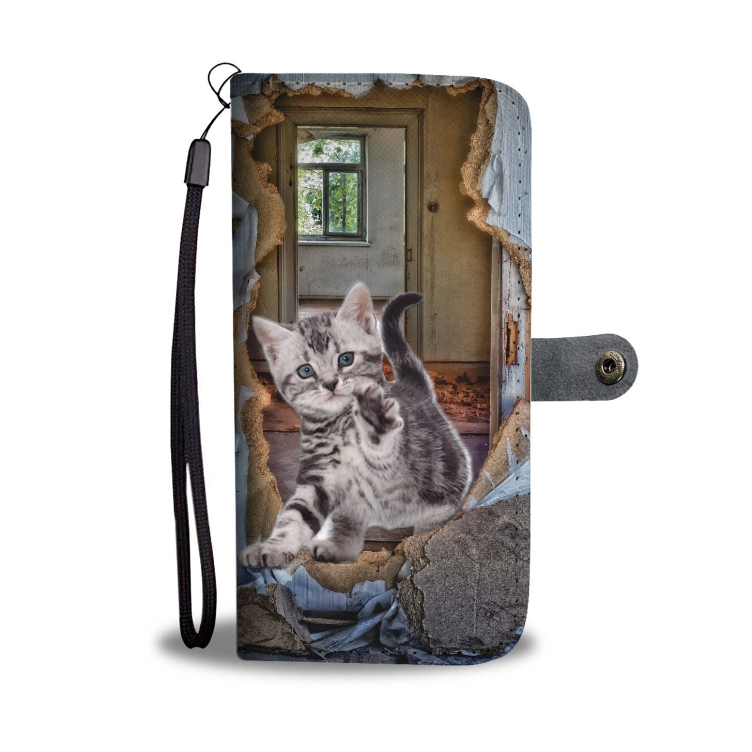 American Shorthair 3D Print Wallet Case-Free Shipping