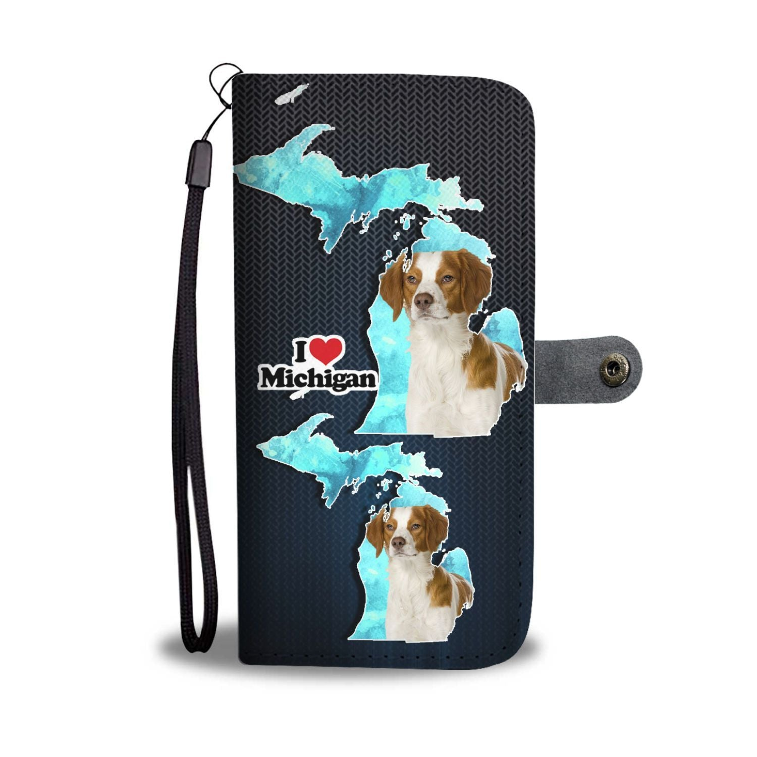 Cute Brittany Dog Print Wallet Case-Free Shipping-MI State