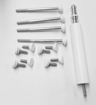 White DSLR Screw Replacement Set