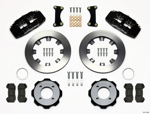 Wilwood 140-11899 Forged Dynapro 6 Big Brake Front Brake Kit (Hat) -2011+ Ford Fiesta on Bleeding Tarmac