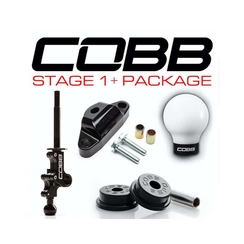 COBB Tuning - Subaru Legacy GT Spec B 6MT Stage 1+ Drivetrain Package cobb224X01P-W-BK White w/ Stealth Black on Bleeding Tarmac