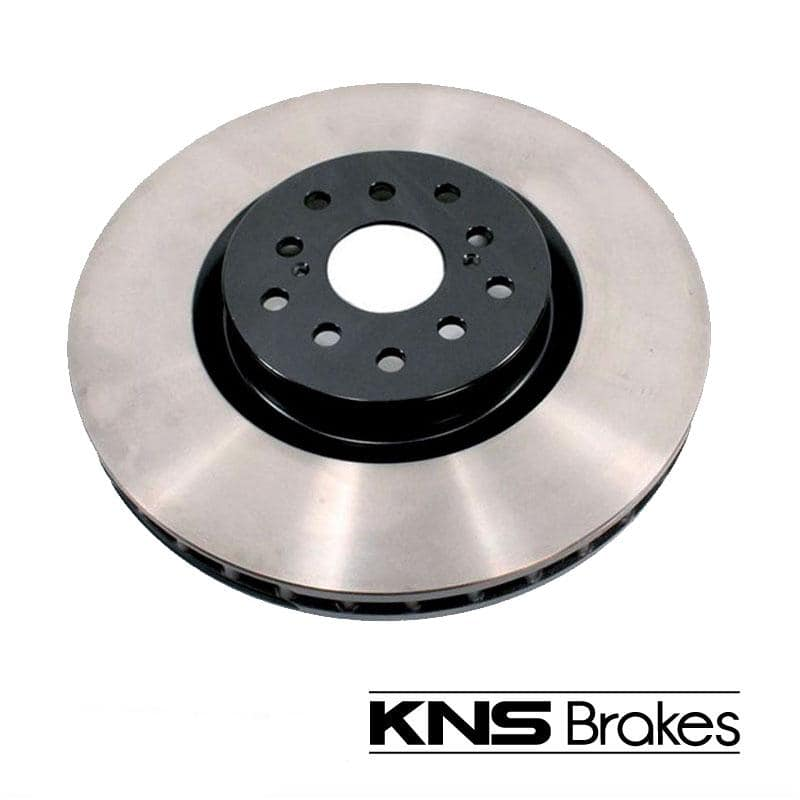 KNS Brakes - Dual Drilled 2-Pot REAR Gravel Rotor - Subaru WRX STi KNS2663 GR/VA on Bleeding Tarmac