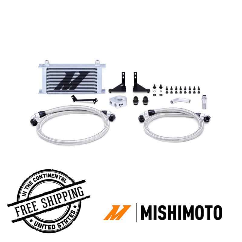 Mishimoto - Oil Cooler Kit - 14+ Ford Fiesta ST misMMOC-FIST-14 NON Thermostatic / Silver on Bleeding Tarmac