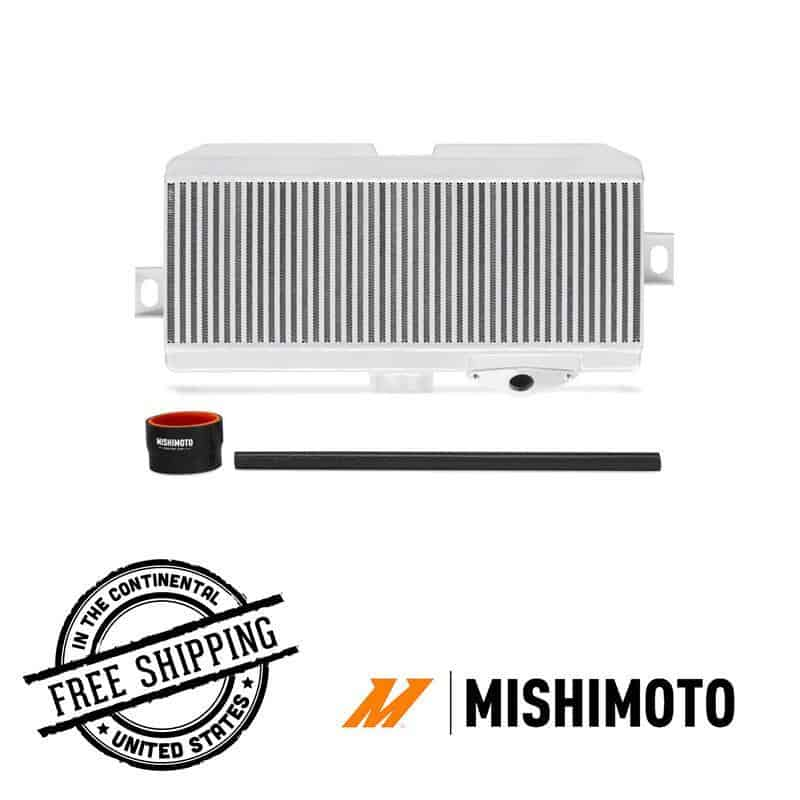 Mishimoto - Performance Top Mount Intercooler Kit - 08-19 Subaru WRX/STI misMMTMIC-STI-08SLRD Silver / Red on Bleeding Tarmac