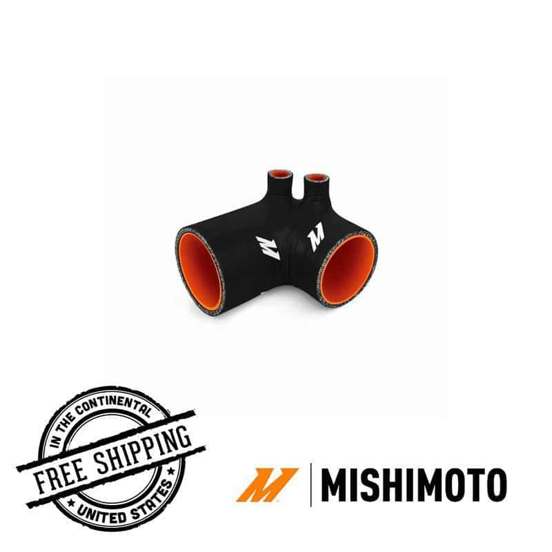 Mishimoto - Silicone Intake Boot - 92-99 BMW E36 (325/328/M33) misMMHOSE-E36-92IBRD Red on Bleeding Tarmac