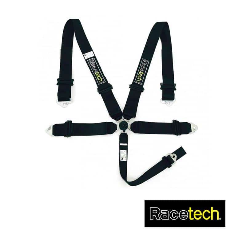 Racetech - Magnum 5-point Lightweight Harness RTMALW5 Black / Standard 3 Inch Shoulder Strap / No on Bleeding Tarmac