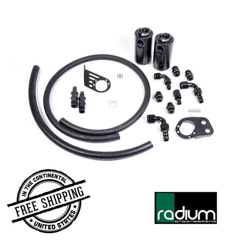 Radium Engineering - Dual Catch Can Kit - 14-18 Ford Fiesta ST rad20-0379 Default Title on Bleeding Tarmac