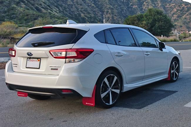 Rally Armor Mud Flaps - Subaru Impreza (4D/5D) 17-19 ralMF45-UR-RD/WH Red / White on Bleeding Tarmac