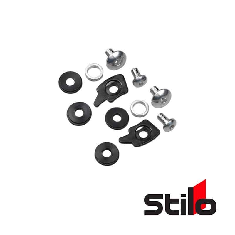Stilo - Parts Helmet Peak Screw Kit over Visor YA0619 Default Title on Bleeding Tarmac