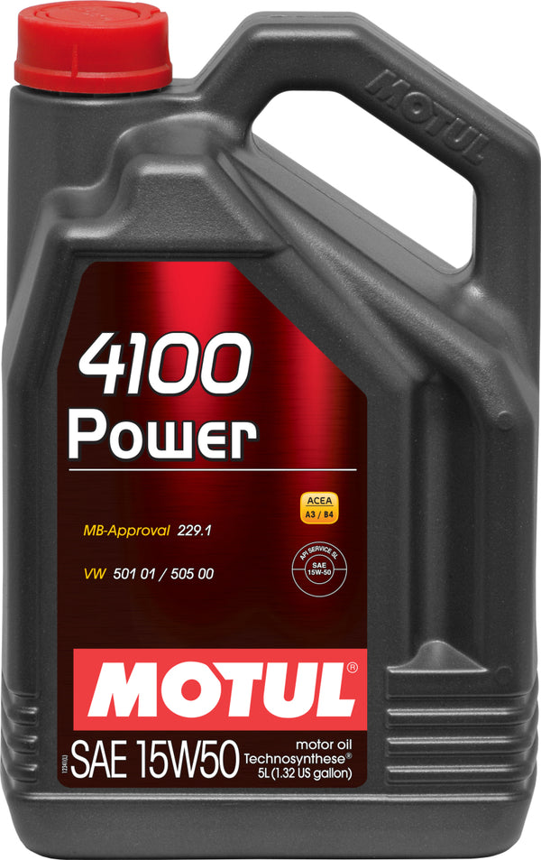 Motul 100273  5L Engine Oil 4100 POWER 15W50 on Bleeding Tarmac