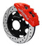 Wilwood 140-11899-R Forged Dynapro 6 Big Brake Front Brake Kit (Hat) - Red - 2011+ Ford Fiesta on Bleeding Tarmac