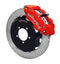 Wilwood 140-12874-R Forged Narrow Superlite 6R Big Brake Front Brake Kit (Hat) - Red - 1999-2017 Subaru WRX w/Lines on Bleeding Tarmac