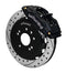 Wilwood 140-9194-D Forged Superlite 4 Big Brake Front Brake Kit (Hat) - Drilled - Nissan 240SX on Bleeding Tarmac