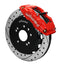 Wilwood 140-9194-DR Forged Superlite 4 Big Brake Front Brake Kit (Hat) - Drilled Red - Nissan 240SX on Bleeding Tarmac