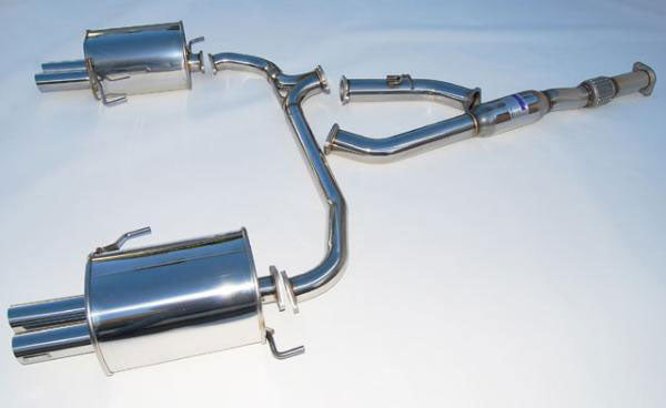 Invidia HS05SL1GT3 Stainless Steel Quad Tip Cat-back Exhaust - 05-09 Subaru Legacy on Bleeding Tarmac