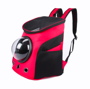 Breathable and pet safe nylon backpack with retro styling is the perfect backpack