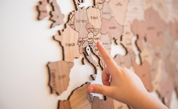 WOODEN WORLD MAP TRUE PUZZLE 150x90 cm - Homizmo