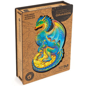 Wooden Puzzle Guarding Dragon