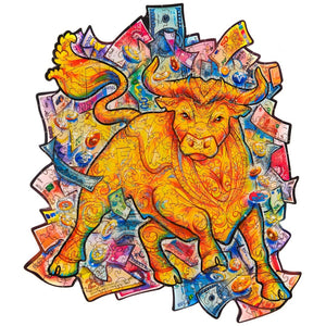 Pre-order Wooden Jigsaw Puzzle Prosperous Bull