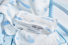 XL - Feather Swaddle - Baby Blue