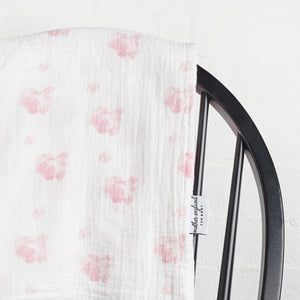 XL - Peony Swaddle - Baby Pink