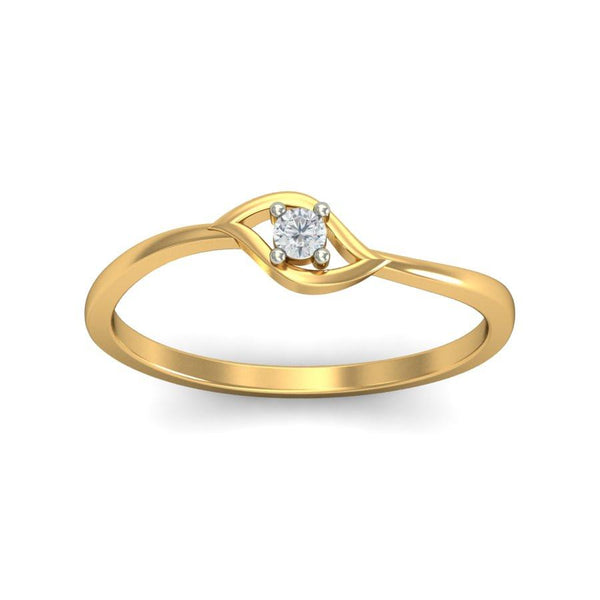 Meandering Meadows Solitaire Ring