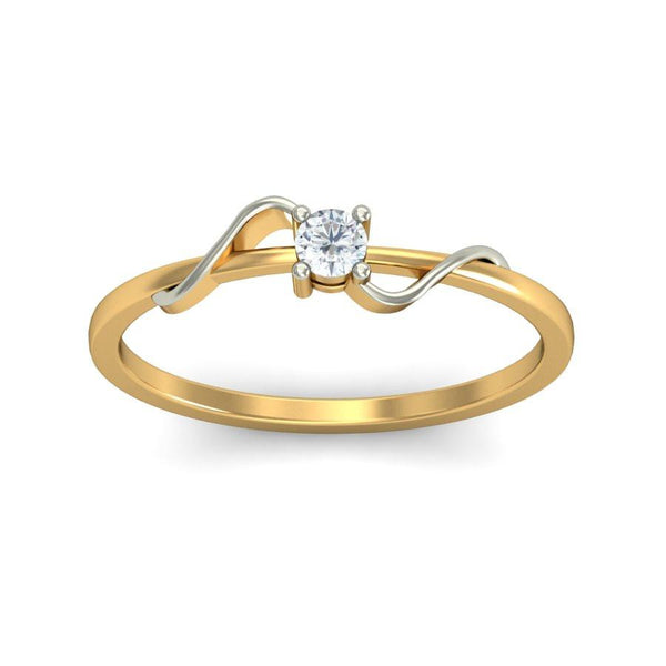 Scintillating Crossovers Solitaire Ring