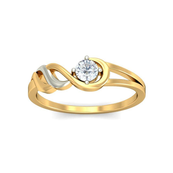 Wavy Solitaire Ring
