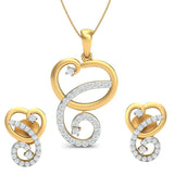 Hearty Twirls Pendant Set