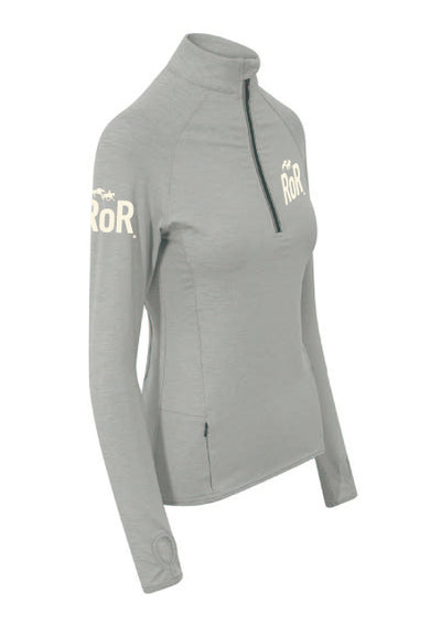 RoR Cool-Flex Half Zip Top - Grey