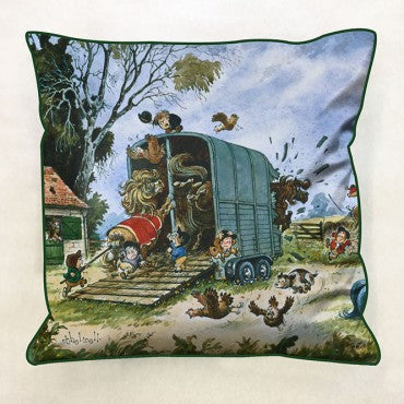 Thelwell 'Trailer Mayhem' Cushion