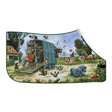 Thelwell - 'Trailer Mayhem' Fleece Rug