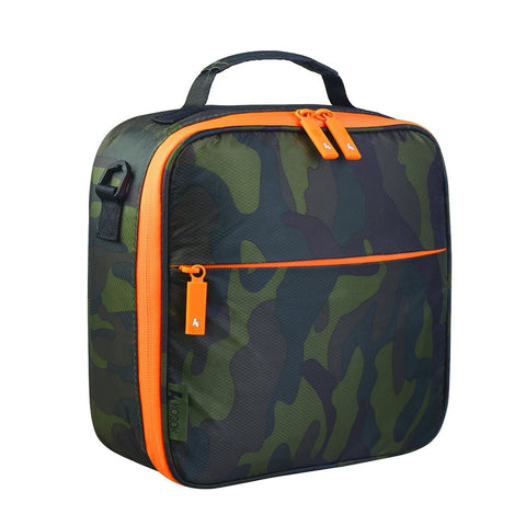 Square Insulated Lunch Bag with Waterpfoor Zip (New Camo) #KB003