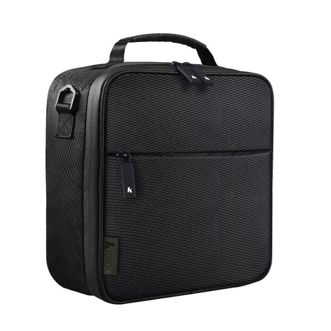 Square Insulated Lunch Bag with Waterpfoor Zip (Black) #KB002