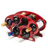 Bamboo 6-bottle Countertop / Table Top Wine Rack - Hot and Spicy Red