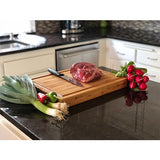 Extra Large Thick Professional Grade Bamboo Cutting Board with Deep Groove- 18 x 14 x 2 in