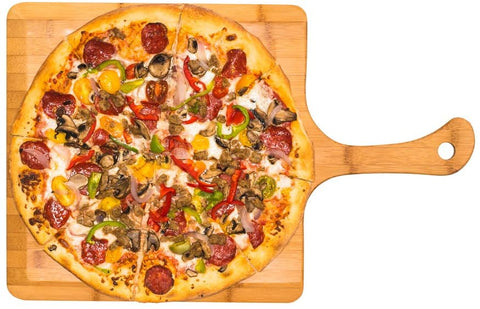 Extra Large Bamboo Pizza Peel – Natural Serving Board for Pizza, Sushi, Pastry, Cheese and Bread
