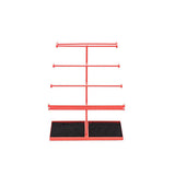 Watermelon Red Extra Large 5 Tier Tabletop Jewelry Organizer Tree with Black Velvet Tray