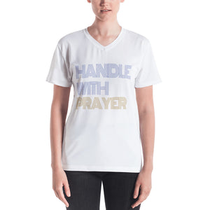 Handle with Prayer Women's V-Neck Tee
