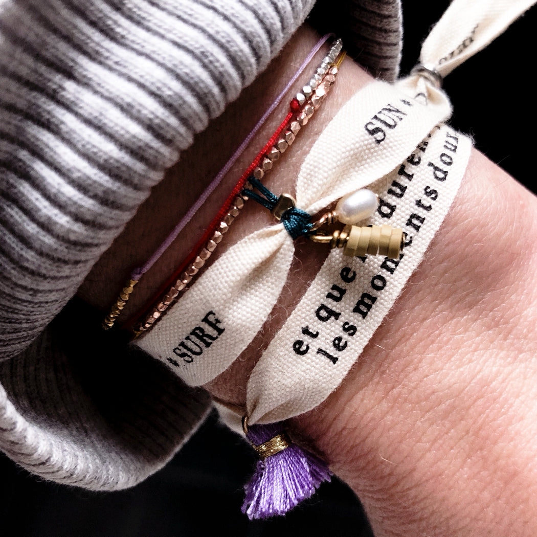 Bracelet MANTRA - et que ne durent que les moments doux