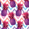 Purple Pineapples on Chevron - HTV, Glitter HTV or Glossy Adhesive Vinyl - $2.95-$9.50