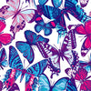 Blue, Pink & Purple Butterflies - HTV, Glitter HTV or Glossy Adhesive Vinyl - $2.95-$9.50