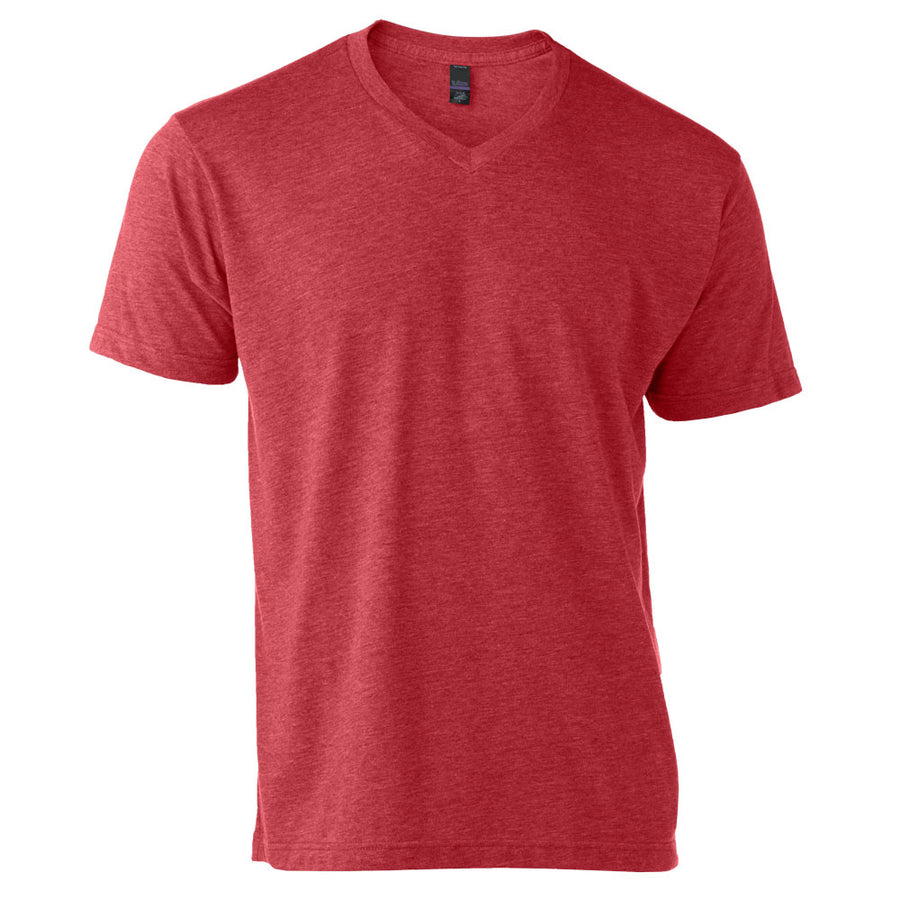 Tultex 207 Adult Poly Blend V Neck Tee