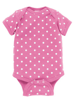 Patterned Baby Rib Bodysuit - Infants