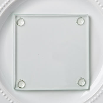 Square Glass Coaster - 3.5""
