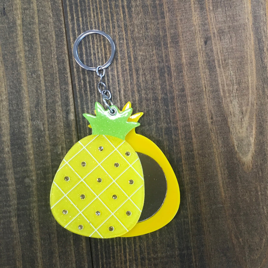 Pineapple Mirror Keychain
