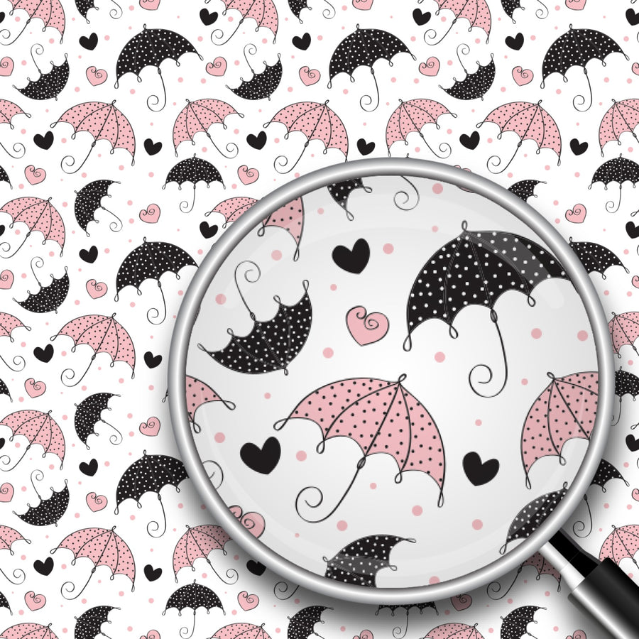 Hearts & Umbrellas Print